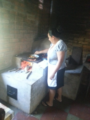 Tita making us breakfast