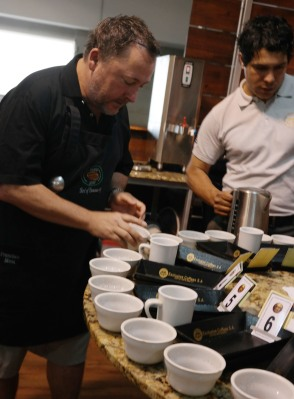 Cupping at Exclusive Coffees